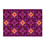 Purple Kaleidoscope Pattern 5'x7'Area Rug