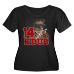 KDub 14 Women's Plus Size Scoop Neck Dark T-Shirt