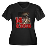 KDub 14 Women's Plus Size V-Neck Dark T-Shirt