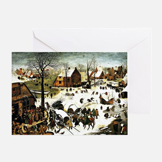 Census at Bethlehem, painting by Pie Greeting Card