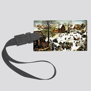 Census at Bethlehem, painting by Large Luggage Tag