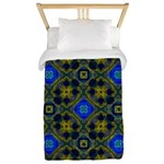 Retro Blue and Yellow Pattern Twin Duvet