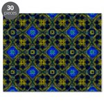 Retro Blue and Yellow Pattern Puzzle