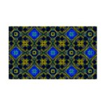 Retro Blue and Yellow Pattern Wall Decal