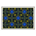Retro Blue and Yellow Pattern Banner