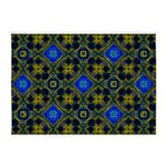 Retro Blue and Yellow Pattern 5'x7'Area Rug
