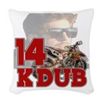 Kdub14 Woven Throw Pillow