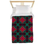 Pink and Green Retro Pattern Twin Duvet