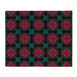 Pink and Green Retro Pattern Throw Blanket