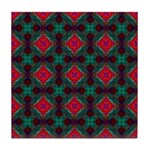 Pink and Green Retro Pattern Tile Coaster