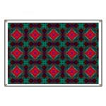 Pink and Green Retro Pattern Banner