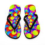 Hippie Art Rainbow Spiral Flip Flops
