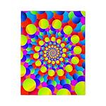 Hippie Art Rainbow Spiral Twin Duvet