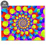 Hippie Art Rainbow Spiral Puzzle