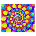 Hippie Art Rainbow Spiral King Duvet
