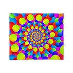 Hippie Art Rainbow Spiral Throw Blanket