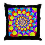 Hippie Art Rainbow Spiral Throw Pillow