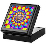 Hippie Art Rainbow Spiral Keepsake Box