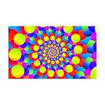 Hippie Art Rainbow Spiral Wall Decal