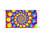 Hippie Art Rainbow Spiral Banner