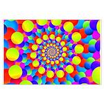 Hippie Art Rainbow Spiral Posters