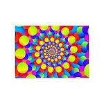 Hippie Art Rainbow Spiral 5'x7'Area Rug