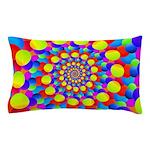 Hippie Art Rainbow Spiral Pillow Case