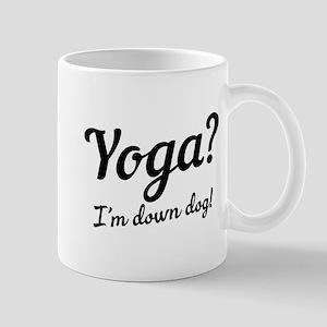 yoga I'm down dog Mugs