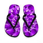 Hippie Purple Spiral Pattern Flip Flops