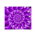 Hippie Purple Spiral Pattern Throw Blanket