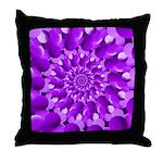 Hippie Purple Spiral Pattern Throw Pillow