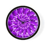 Hippie Purple Spiral Pattern Wall Clock