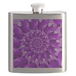 Hippie Purple Spiral Pattern Flask
