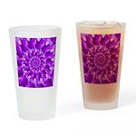 Hippie Purple Spiral Pattern Drinking Glass