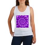 Hippie Purple Spiral Pattern Tank Top