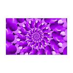 Hippie Purple Spiral Pattern Wall Decal