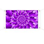 Hippie Purple Spiral Pattern Banner