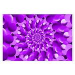 Hippie Purple Spiral Pattern Posters
