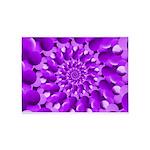 Hippie Purple Spiral Pattern 5'x7'Area Rug