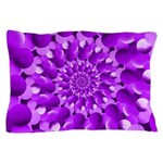 Hippie Purple Spiral Pattern Pillow Case