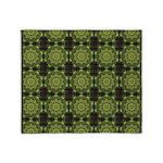 Green Marble Fractal Pattern Throw Blanket