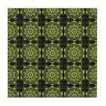 Green Marble Fractal Pattern Tile Coaster