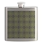 Green Marble Fractal Pattern Flask