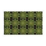 Green Marble Fractal Pattern Wall Decal