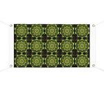 Green Marble Fractal Pattern Banner