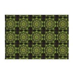 Green Marble Fractal Pattern 5'x7'Area Rug