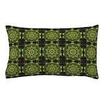 Green Marble Fractal Pattern Pillow Case
