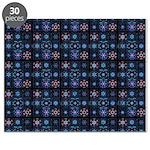 Blue Fractal Collage Puzzle