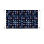 Blue Fractal Collage Banner