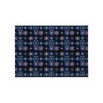 Blue Fractal Collage 5'x7'Area Rug